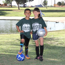 boy and girl soccer